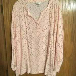 Tunic top, Pink with black dots